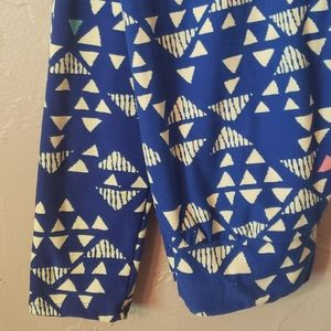 Lularoe Royal Blue Leggings One Size Triangle